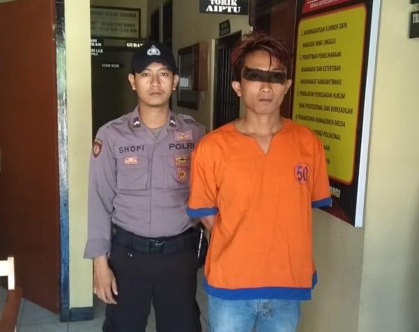 Pengedar Pil Trex 450 Butir, Ditangkap Anggota Polsek Songgon Dijalan Persawahan